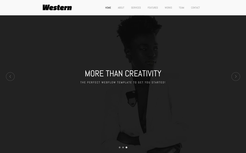 Western agency website template