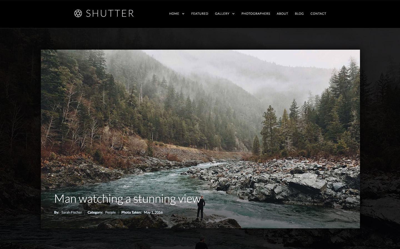 Shutter portfolio website template