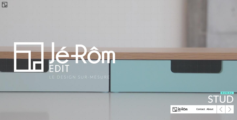 Jé-Rôm Edit furniture designer website