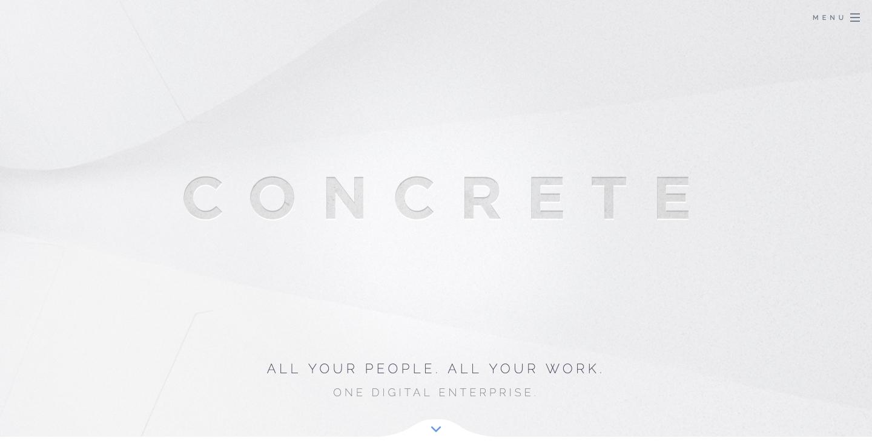 Concrete enterprise collaboration platform homepage