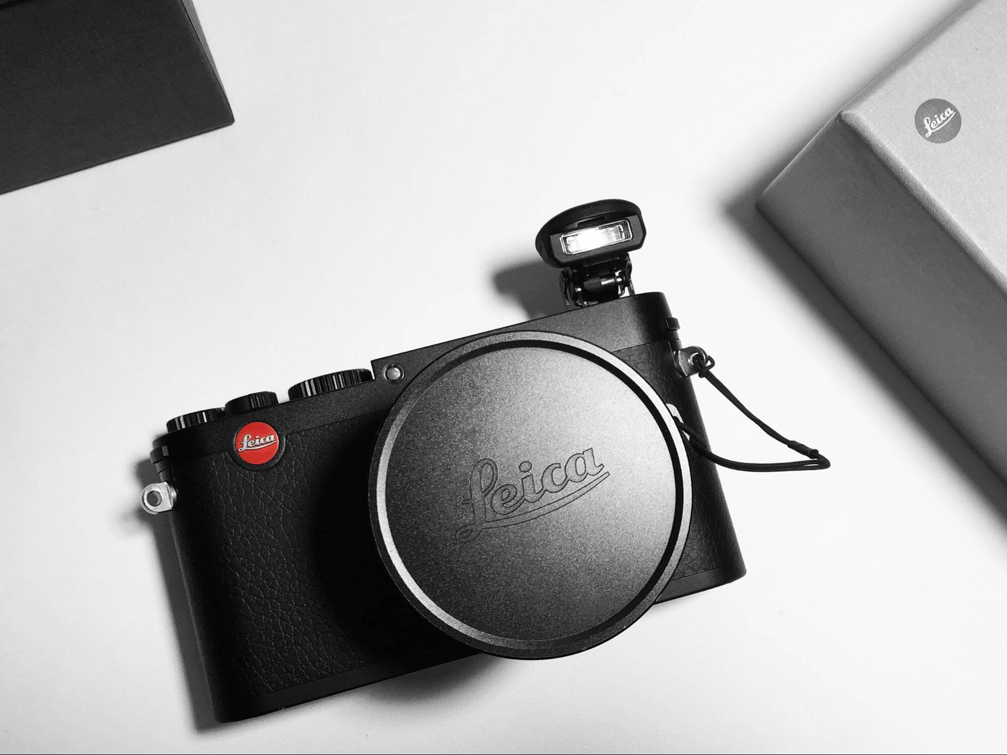 A Leica SLR camera