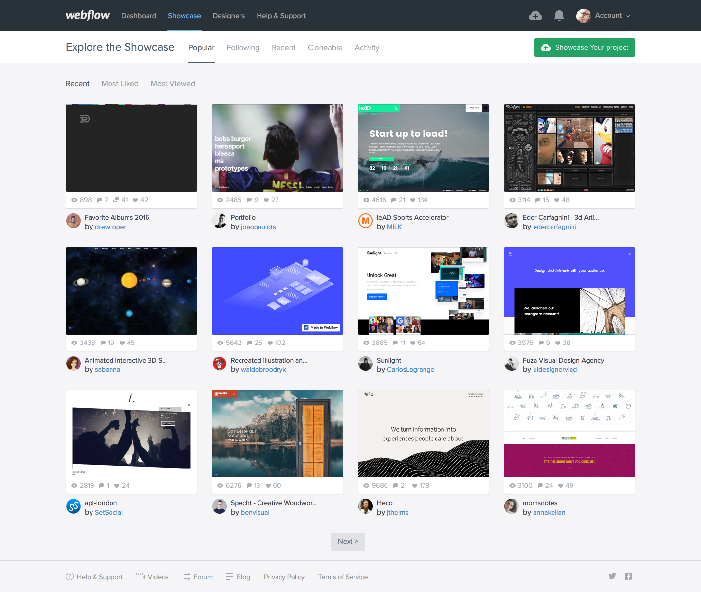 20 Amazing Sources Of Web Design Inspiration Webflow Blog