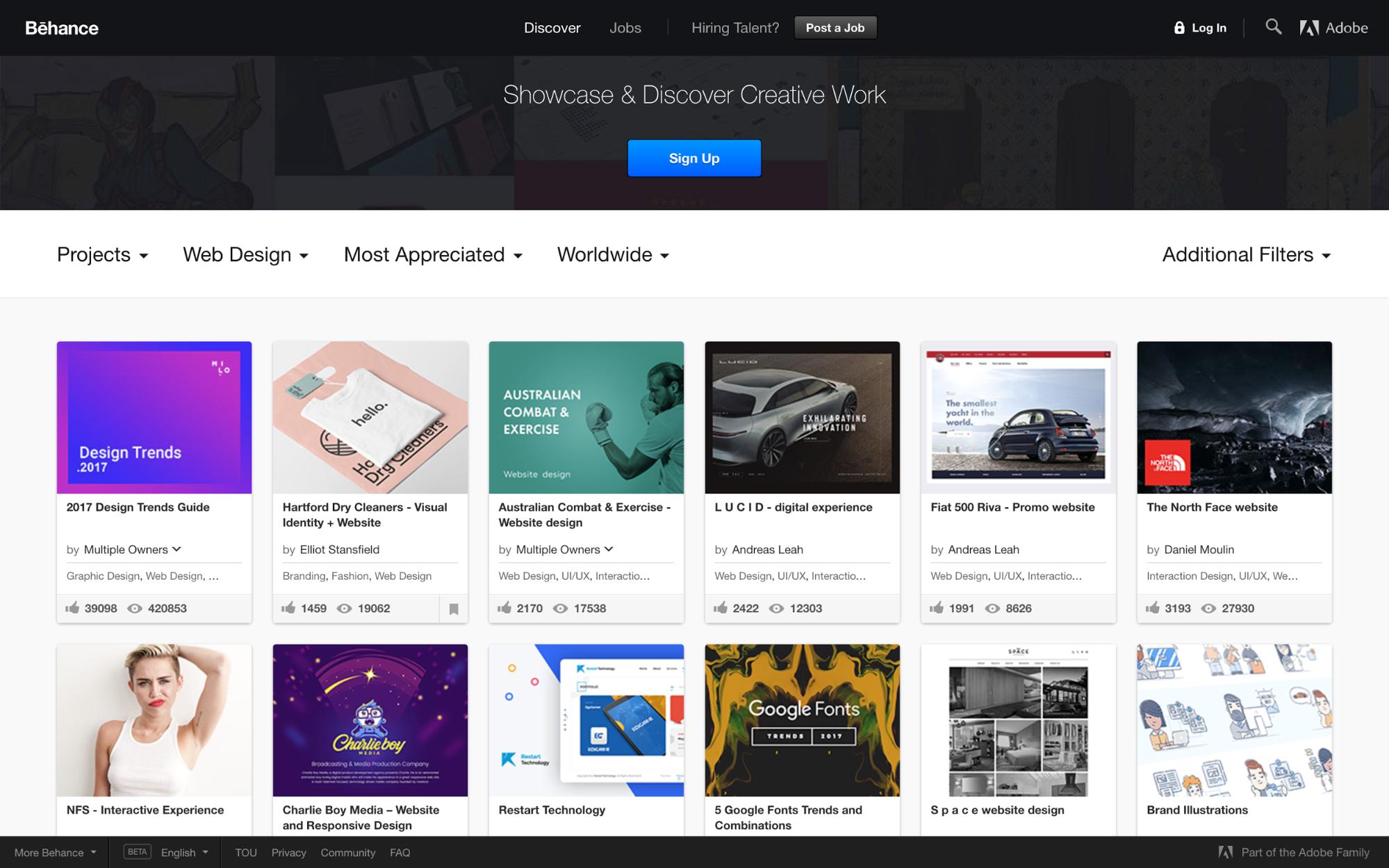 17 amazing sources of web design inspiration | Webflow Blog