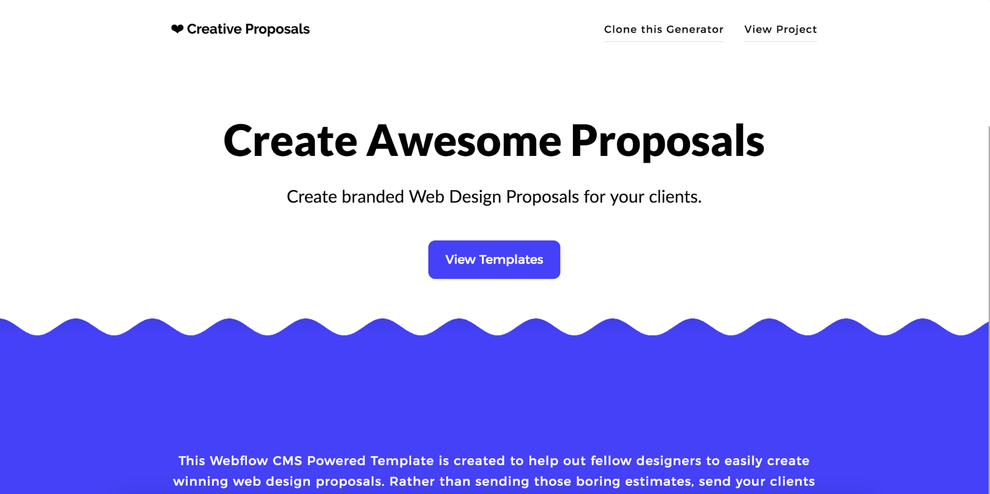 Web Design Proposal Generator - Webflow