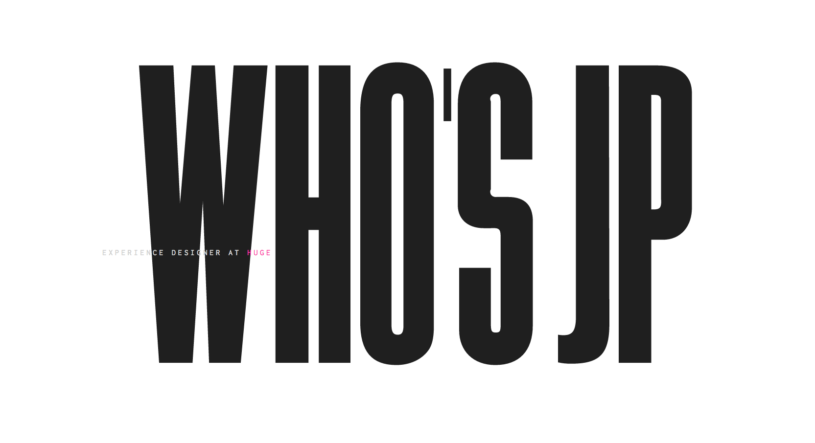 JP portfolio homepage.