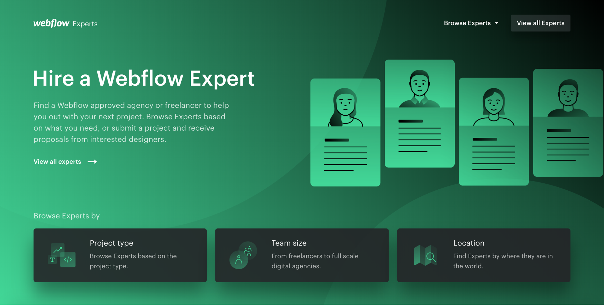 Webflow Experts hero