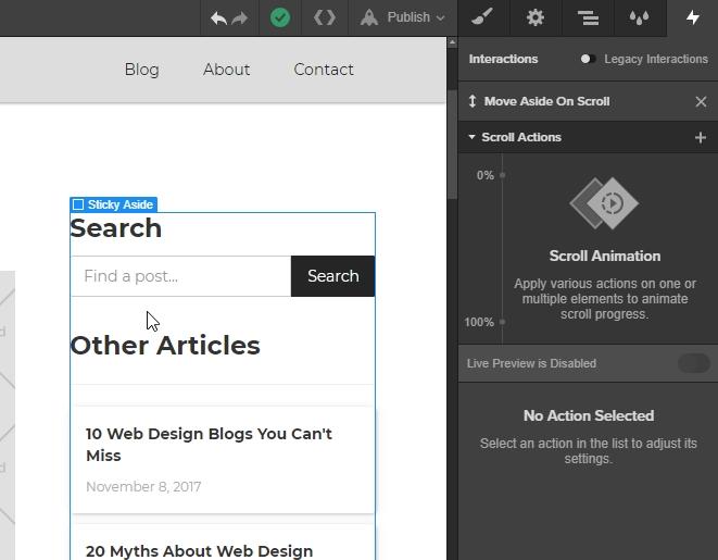 Build a sticky aside in Webflow | Webflow Blog