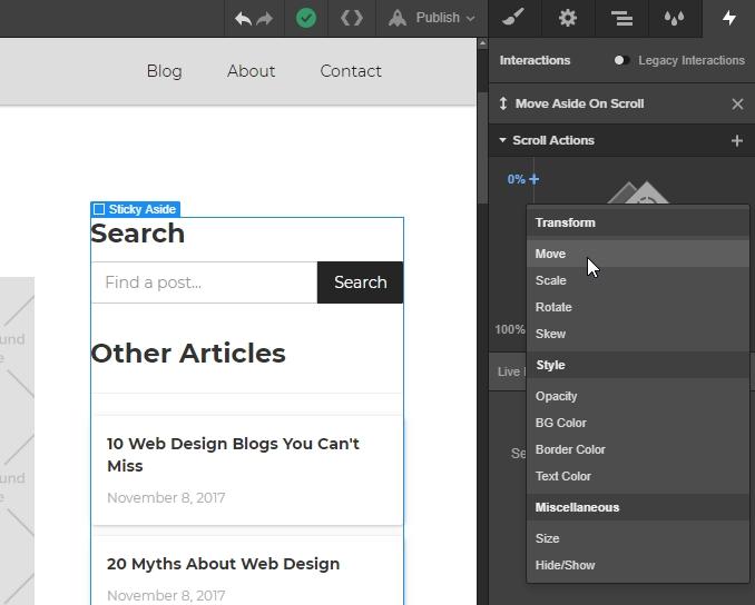 Build a sticky aside in Webflow   Webflow Blog