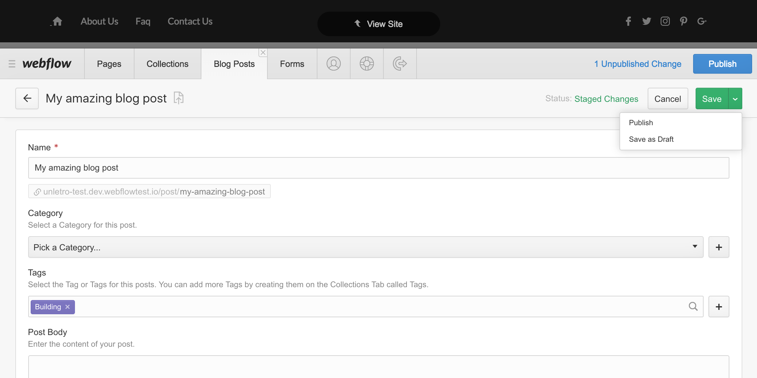New publishing options: Editor style.