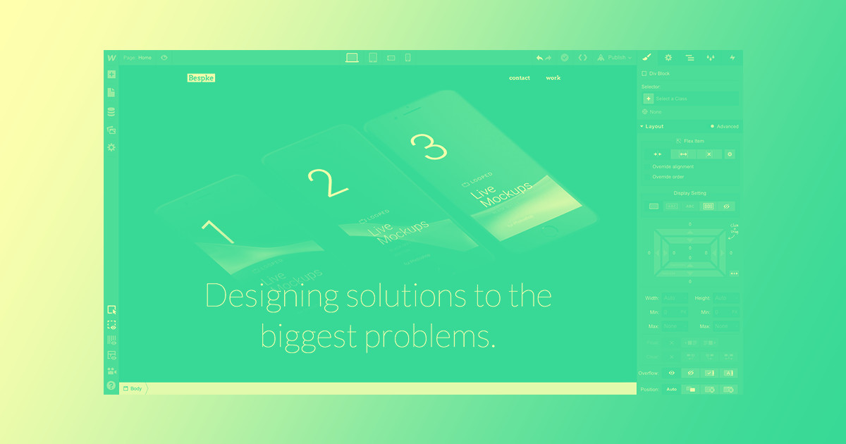 Design and build your agency website, part 3: Flexbox | Webflow Blog