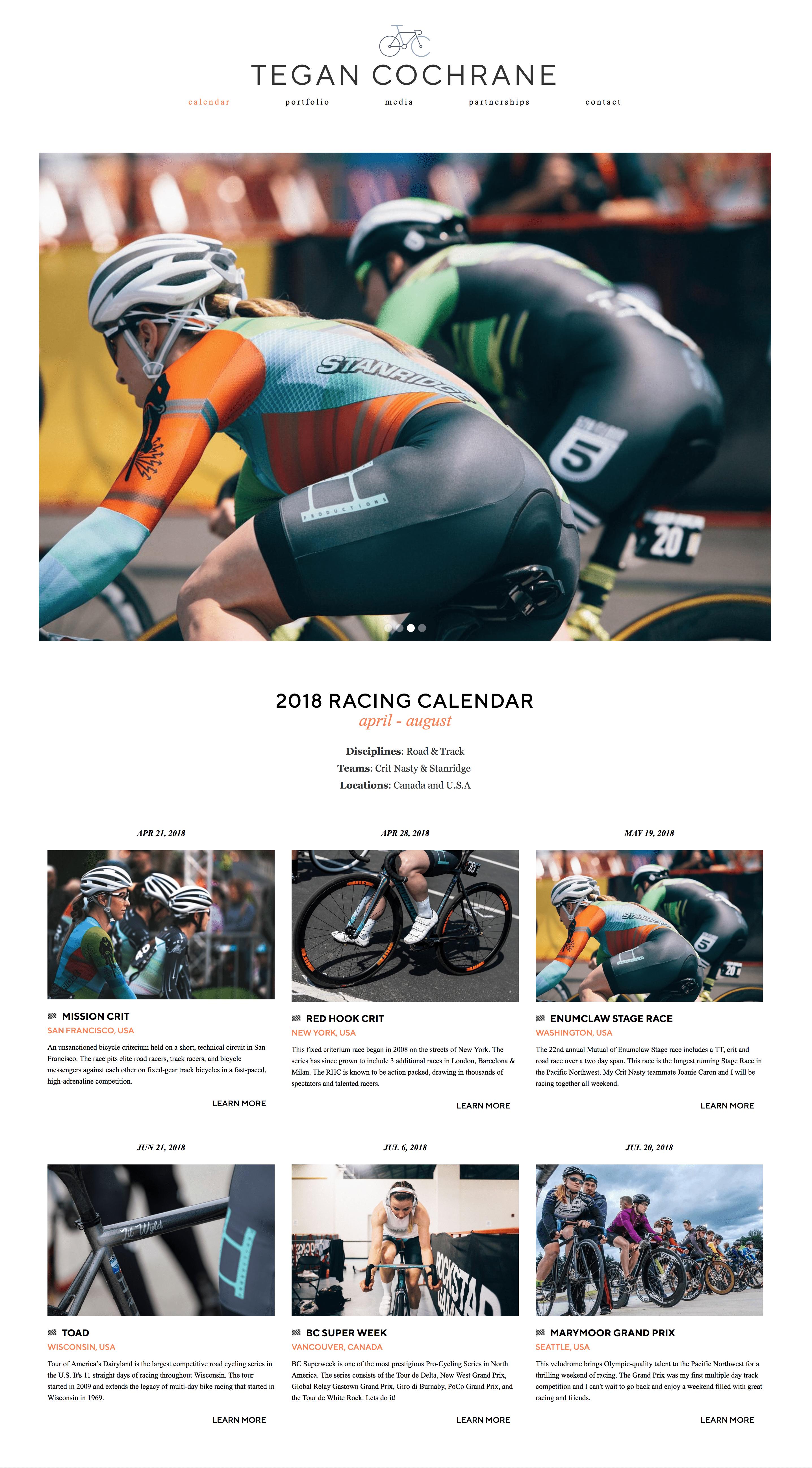 Tegan Cochrane homepage