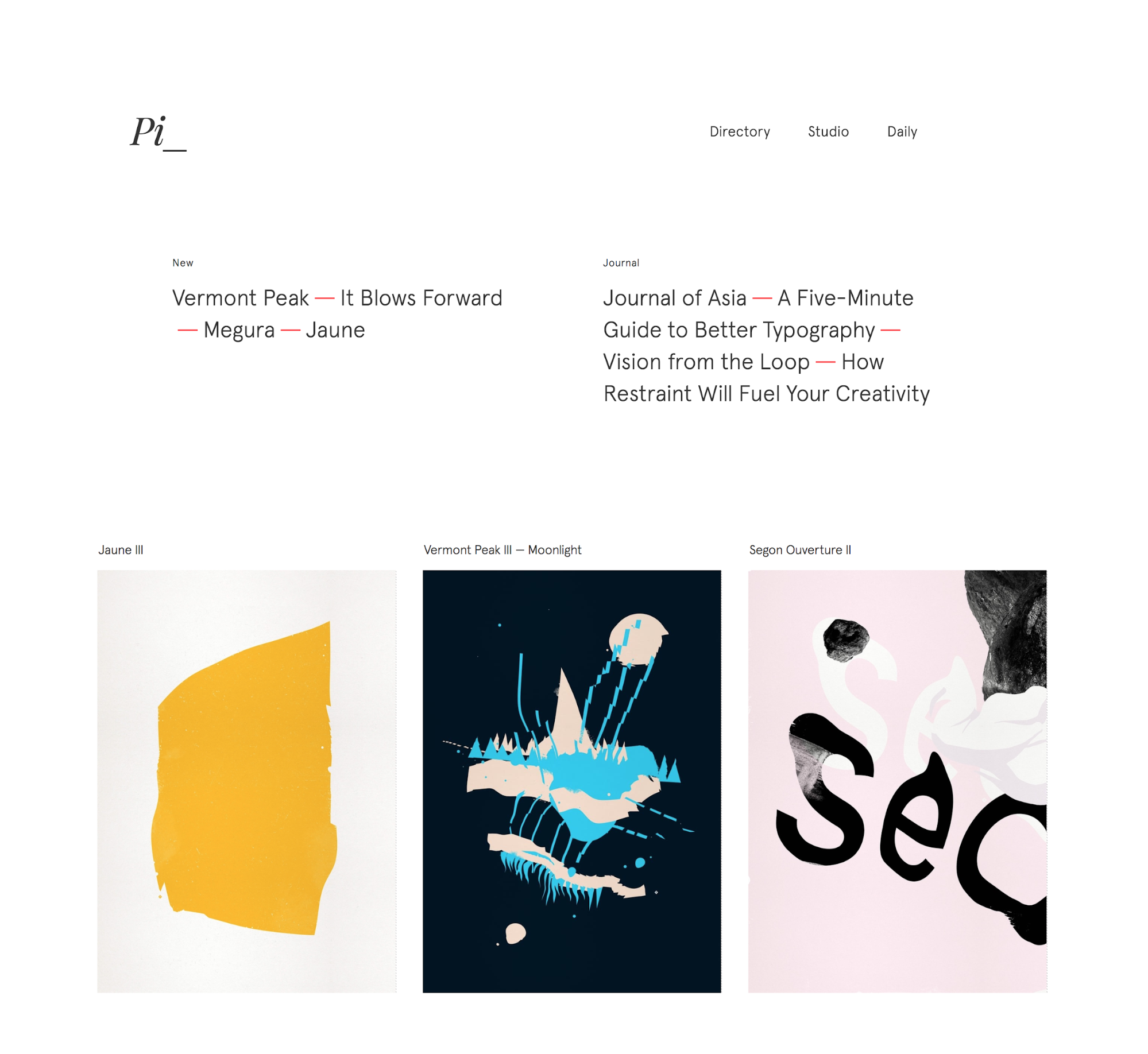 Pierrick Calvez portfolio website
