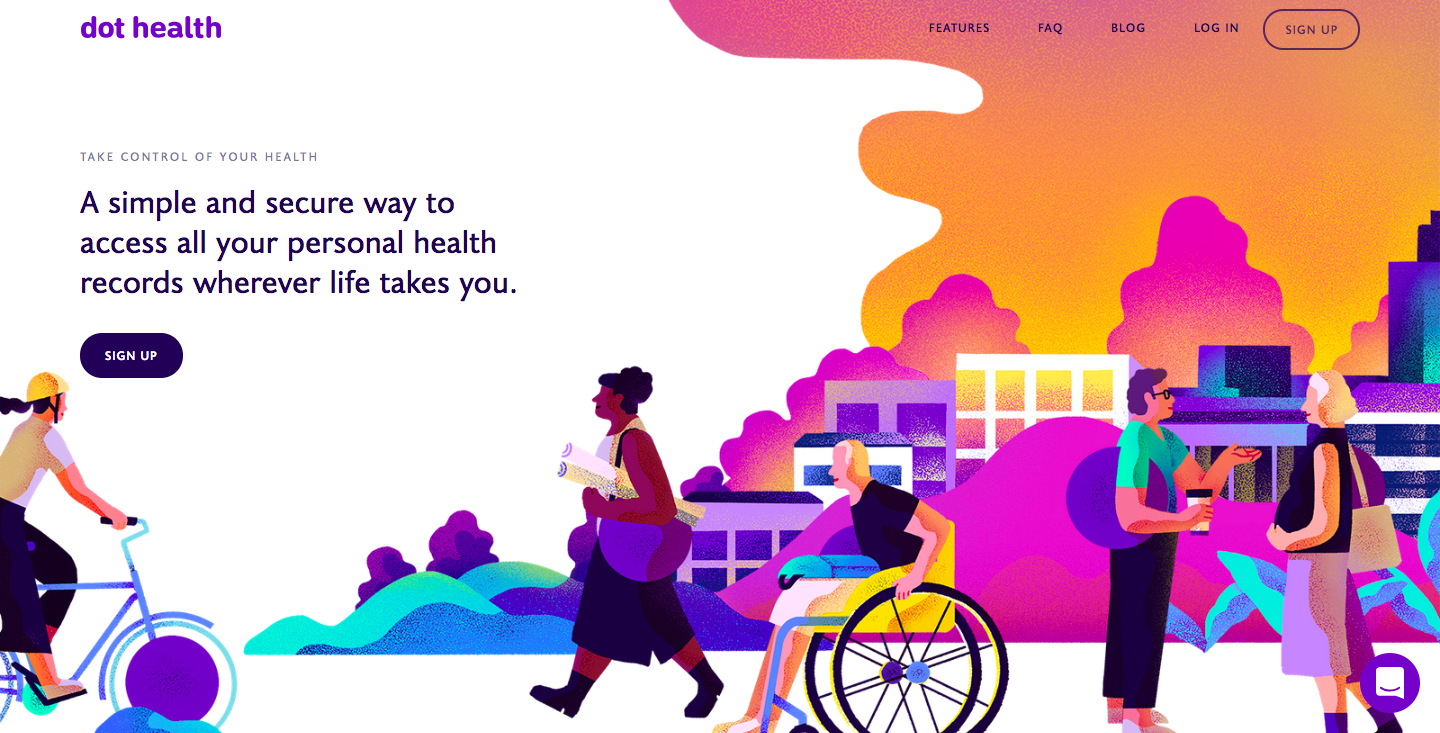 Dot Health website homepage