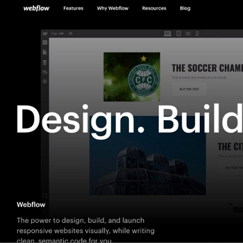 Breaking down the new Webflow homepage