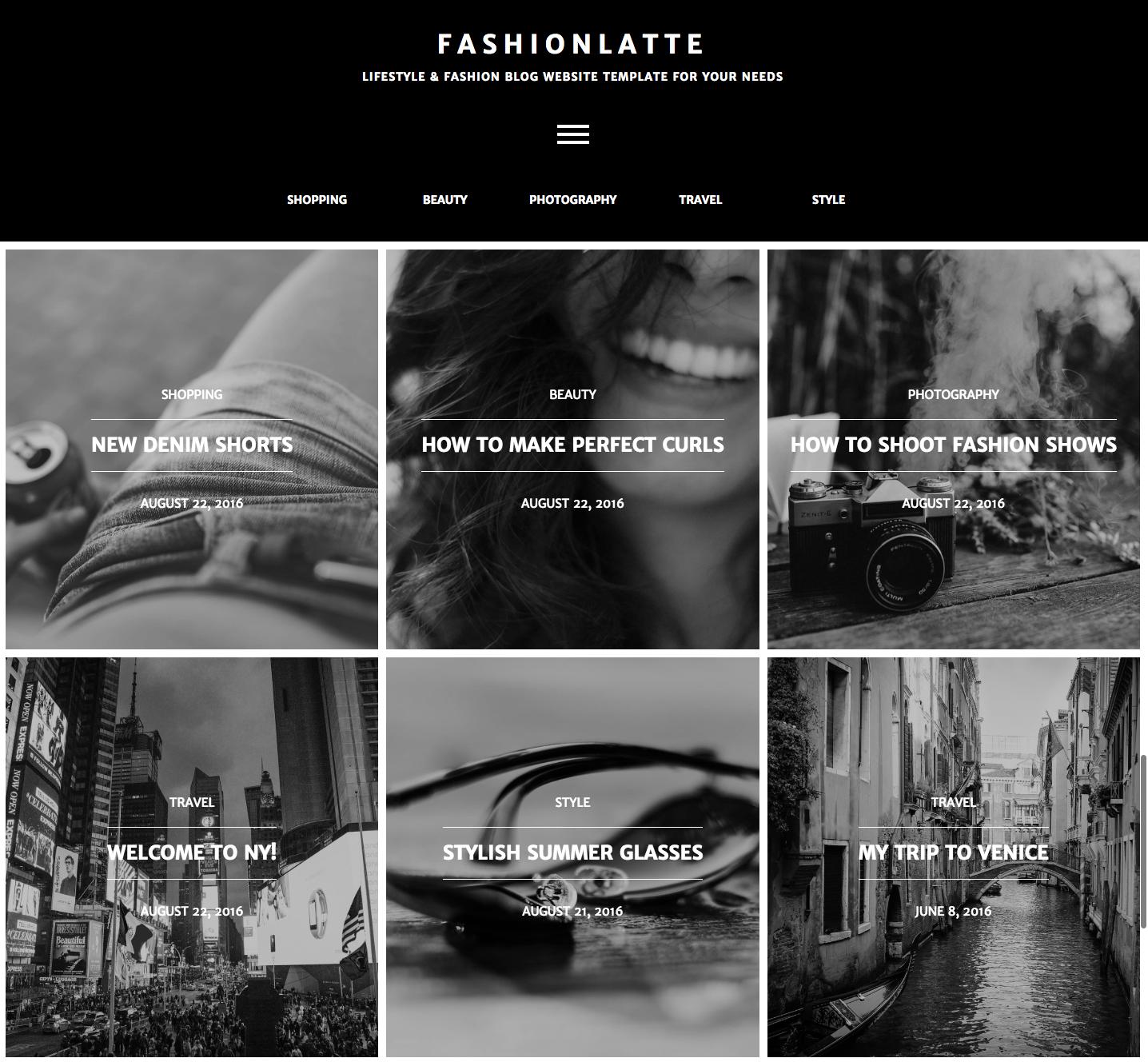 Fashionlatte blog template