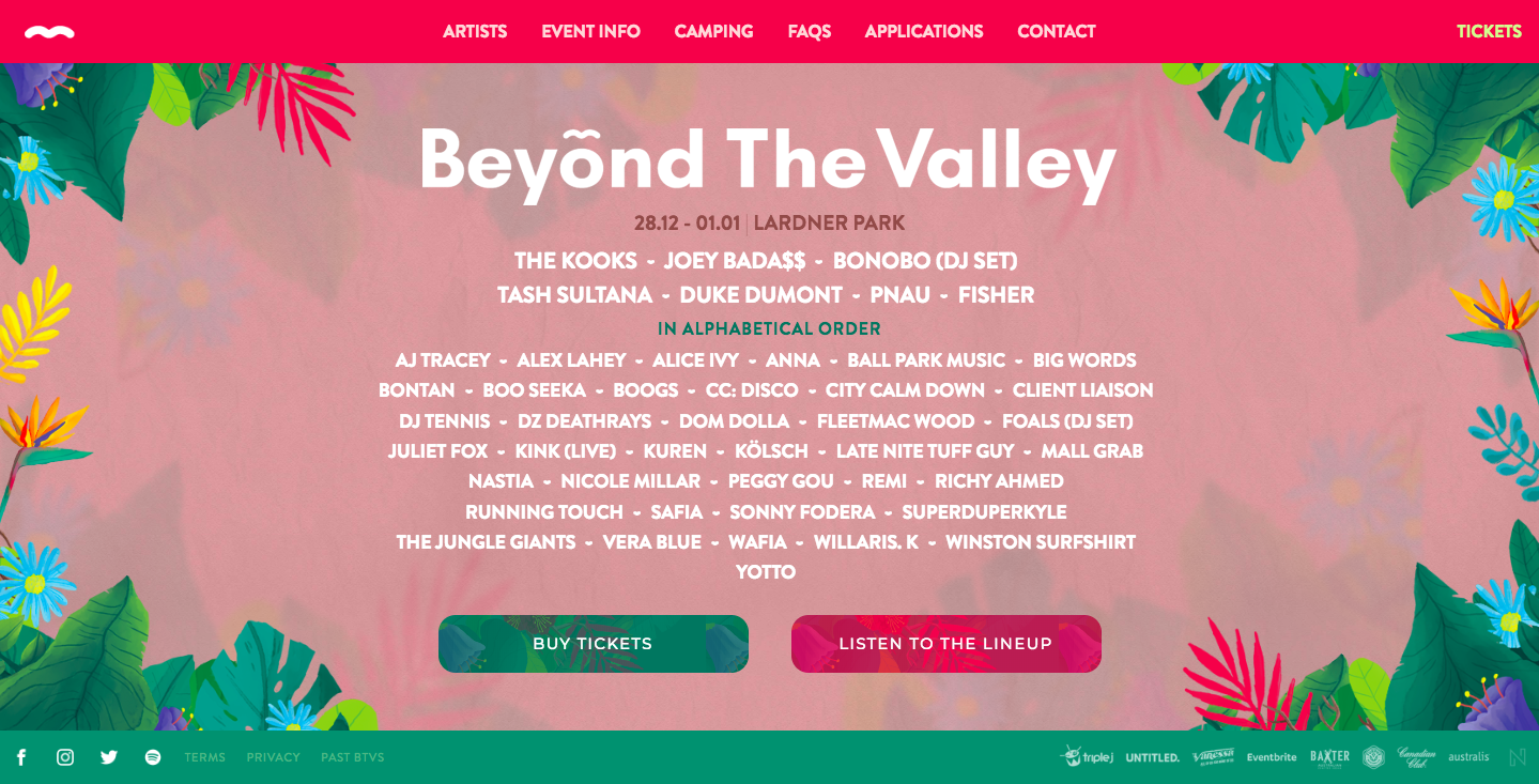 Beyond the Valley Homepage