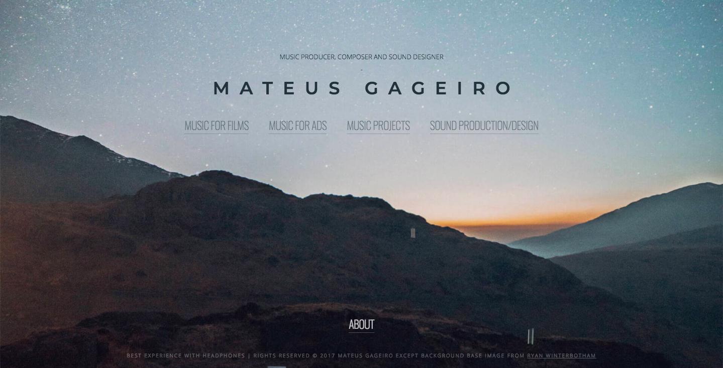 Mateus Gageiro homepage