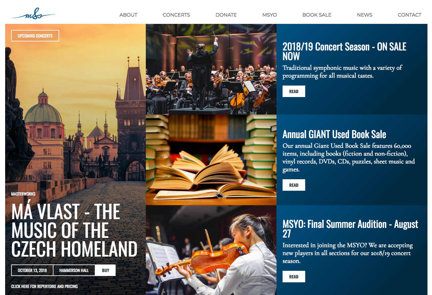 Mississauga Symphony Orchestra homepage