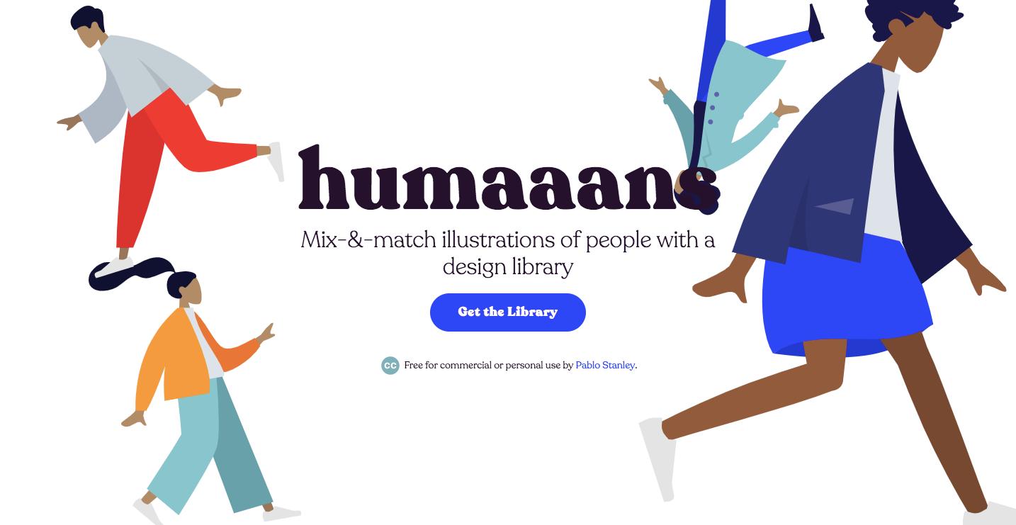 Humaaans homepage.