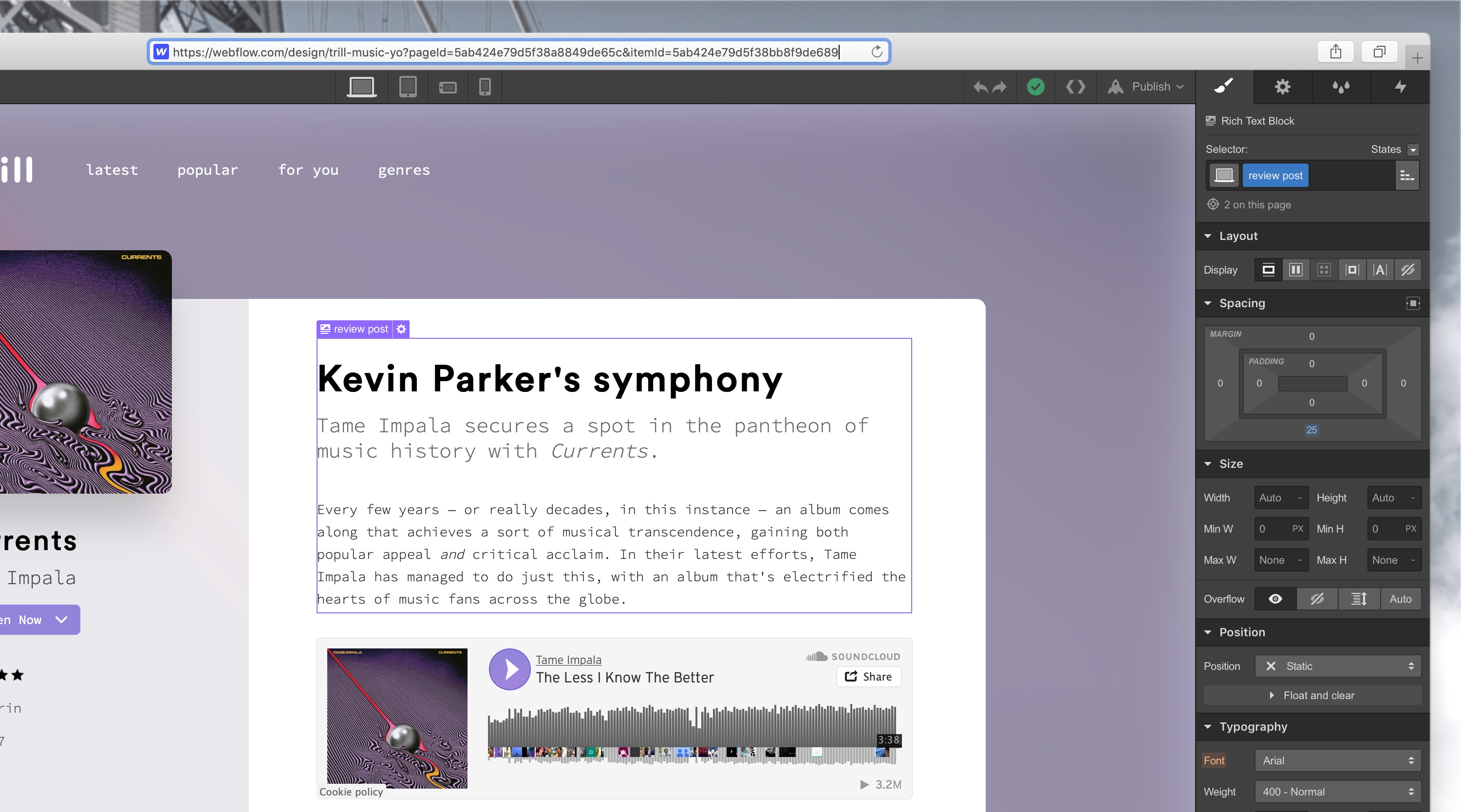 Link to specific pages in the Designer | Webflow Features