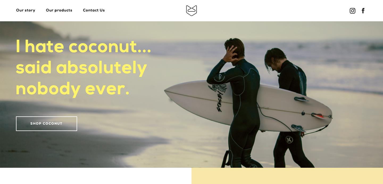 Beachfox homepage.