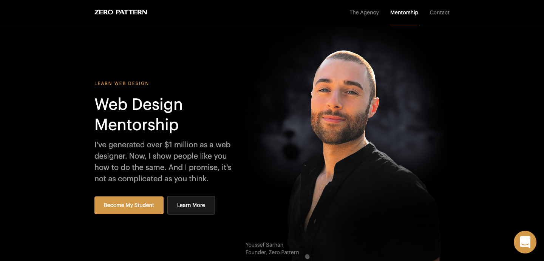 Zero Pattern homepage.