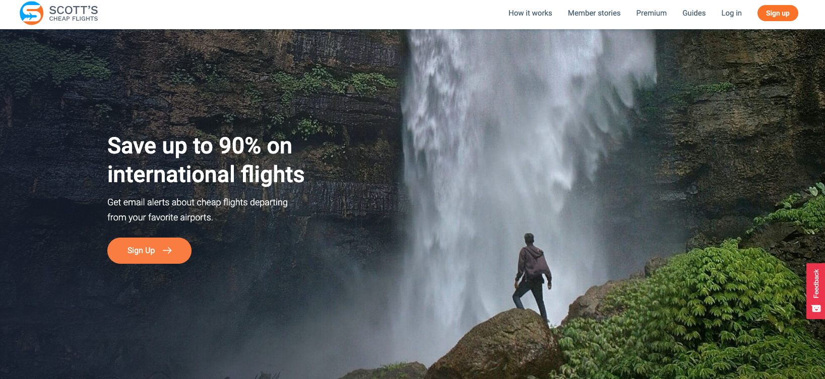 Scott's Cheap Flights homepage.