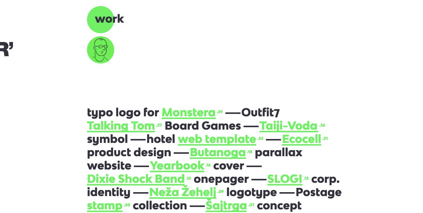 Rok Bracko's portfolio homepage.