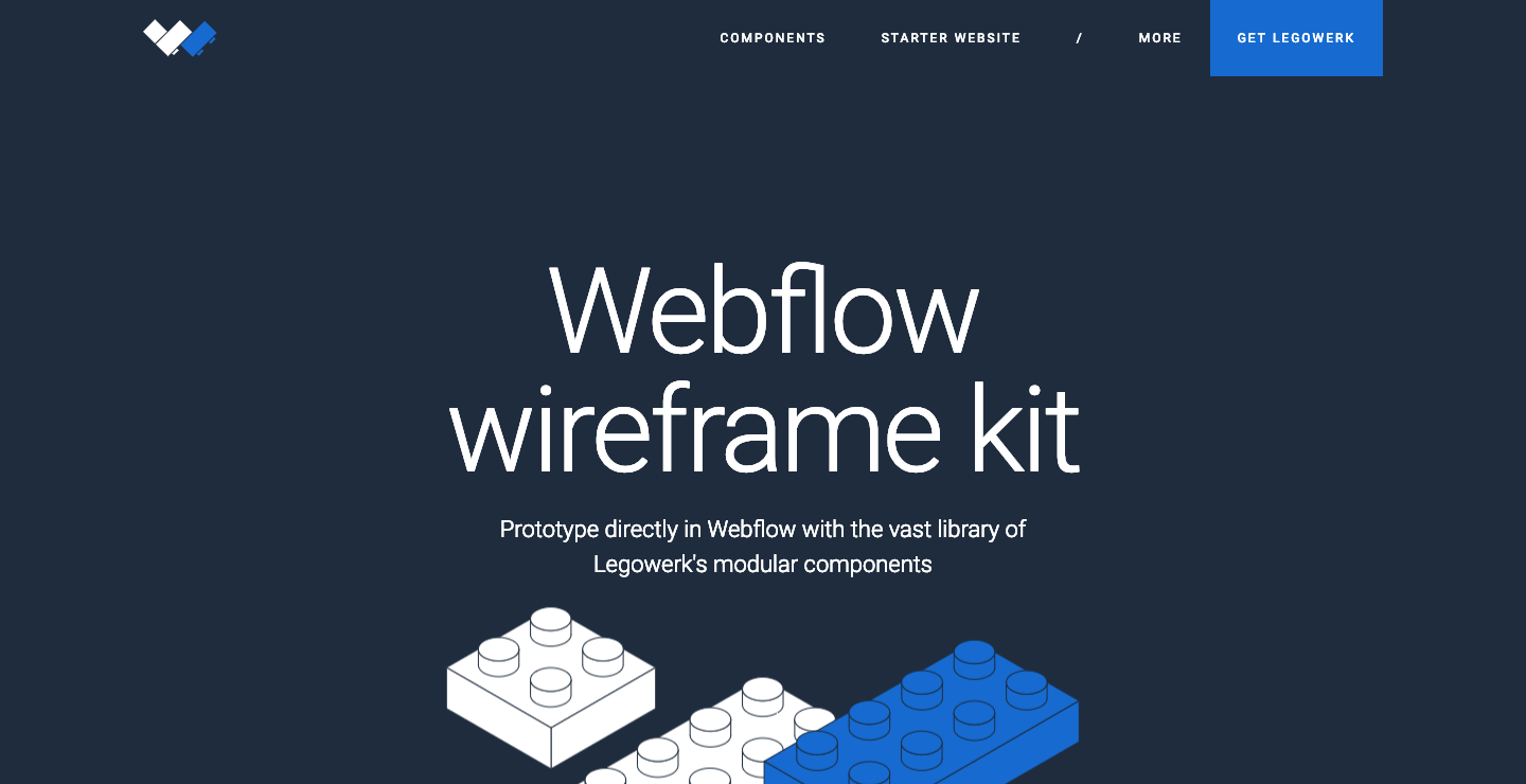 Legowerk Webflow showcase page.
