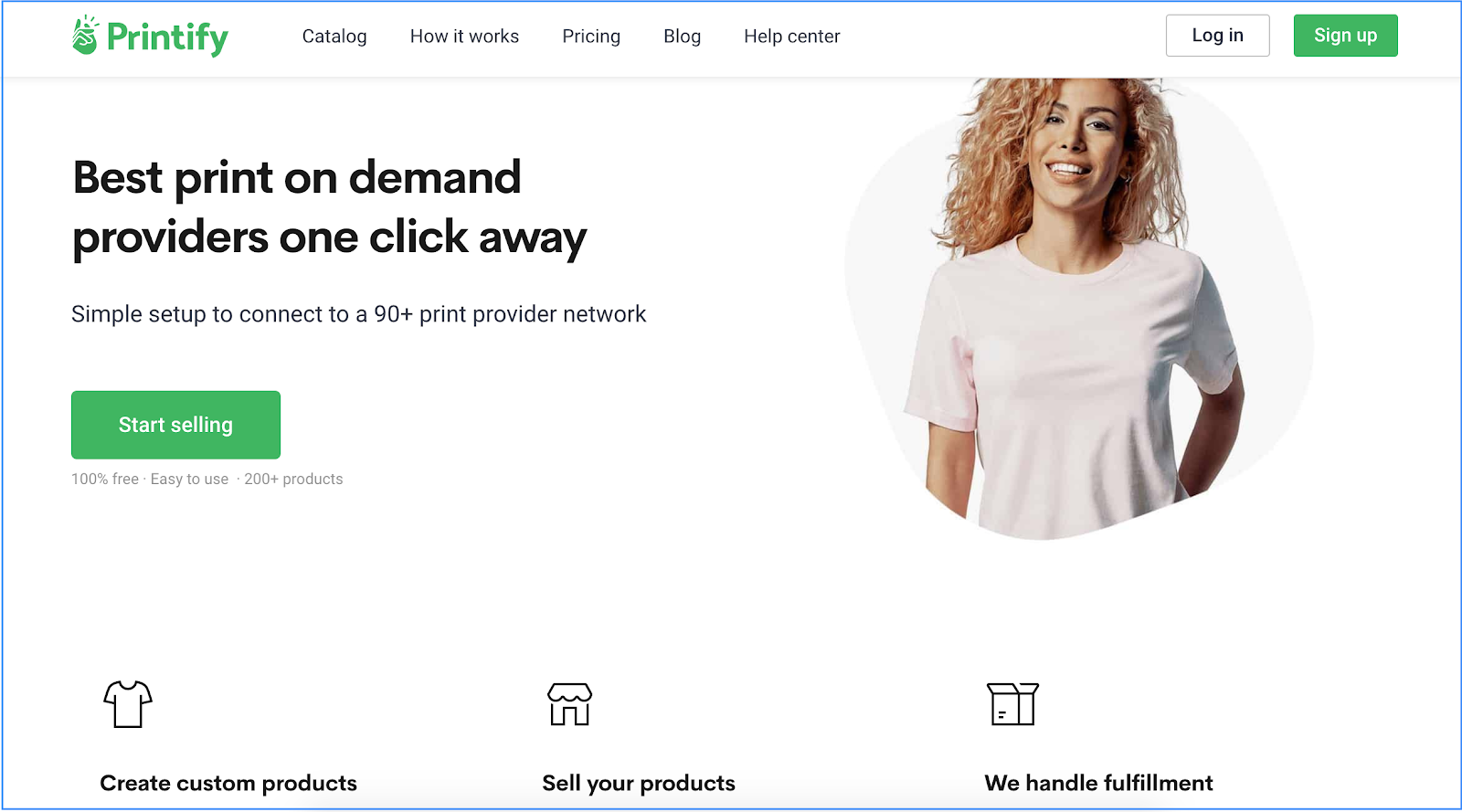 Printify print on demand homepage