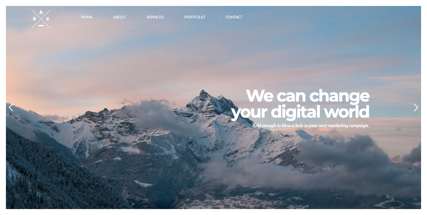 Creative Agency template page.