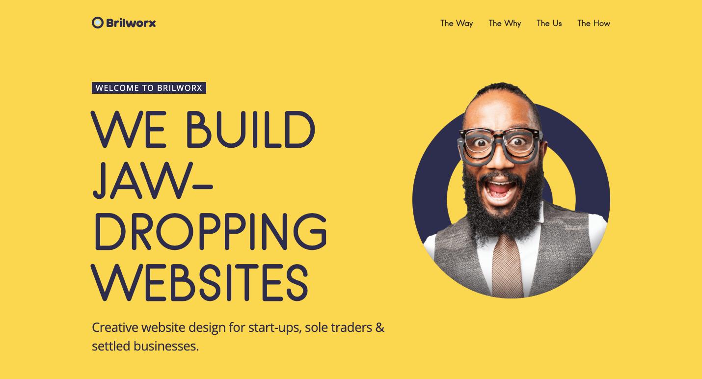 Brilworx homepage.