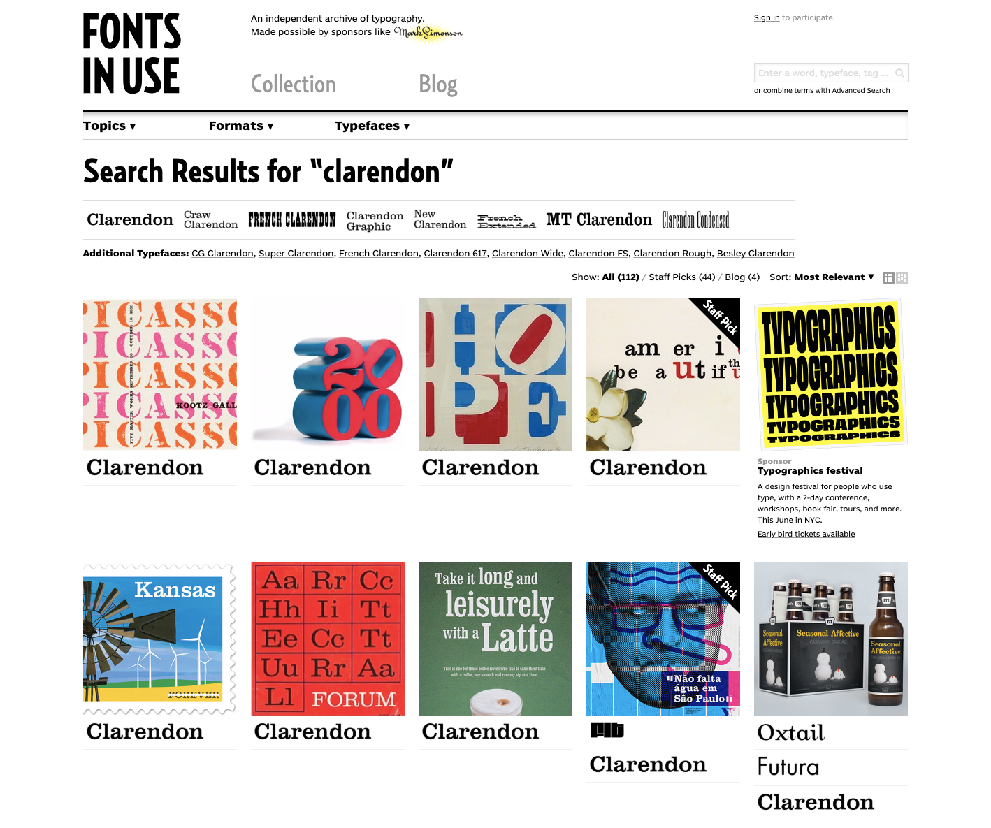 Typographic design: font styles and resources for designers