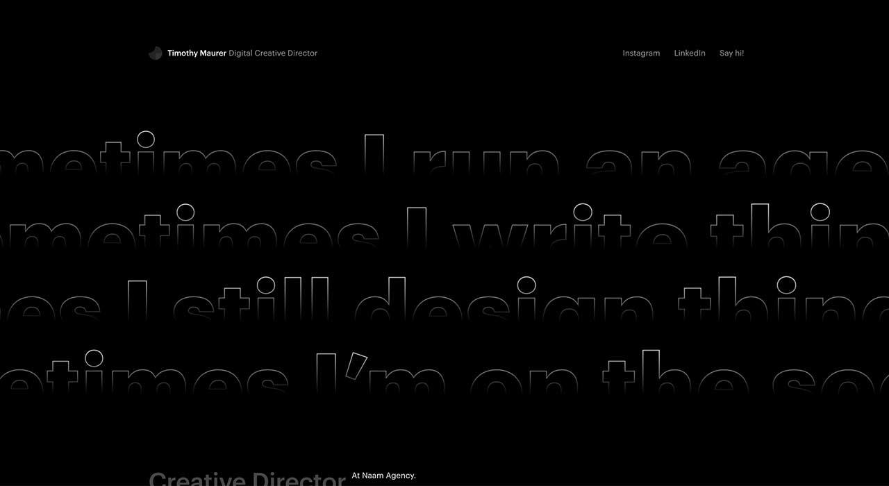 Timothy Maurer's portfolio site.