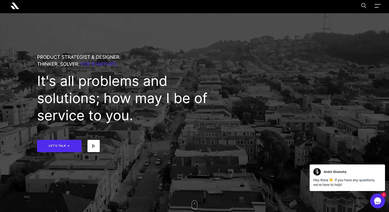 Andre Givenchy's portfolio site.