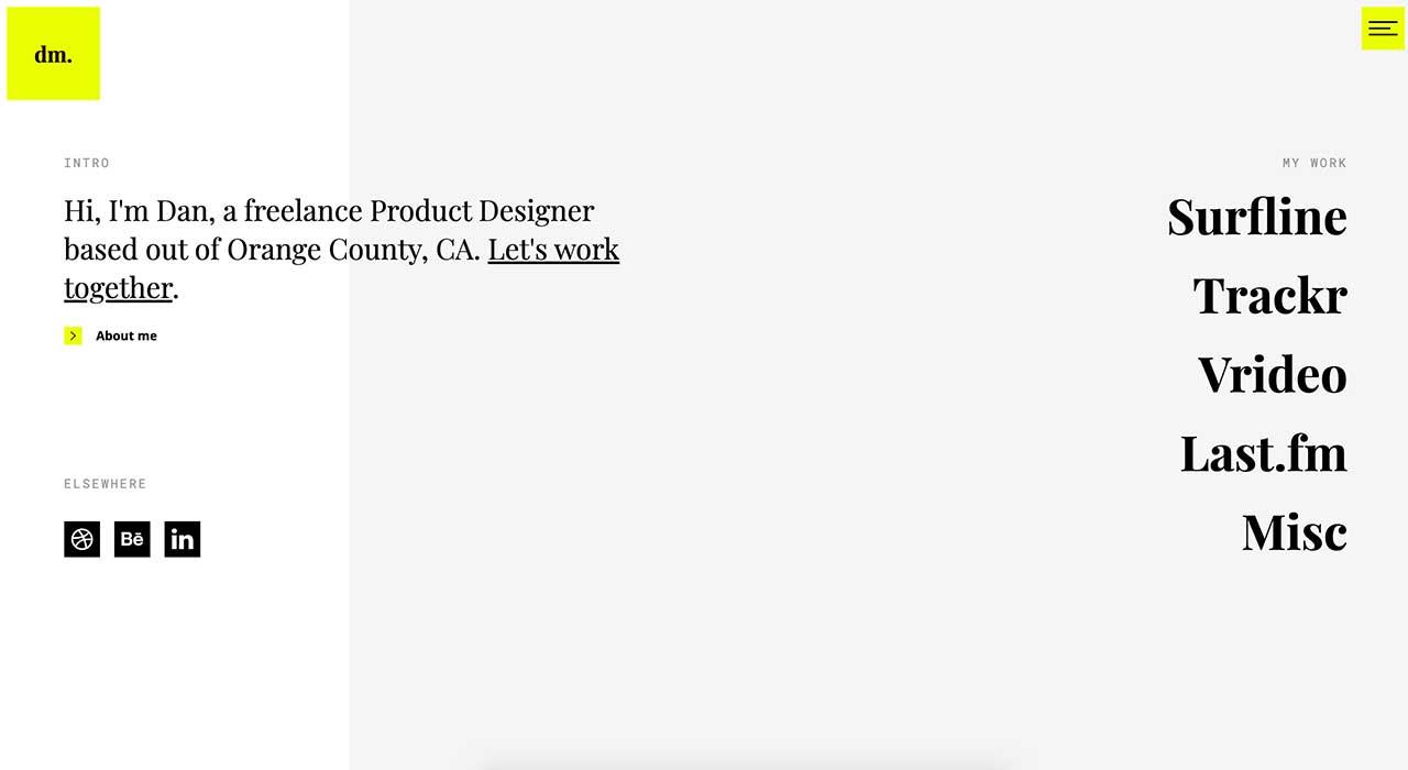 Dan Machado's portfolio site.