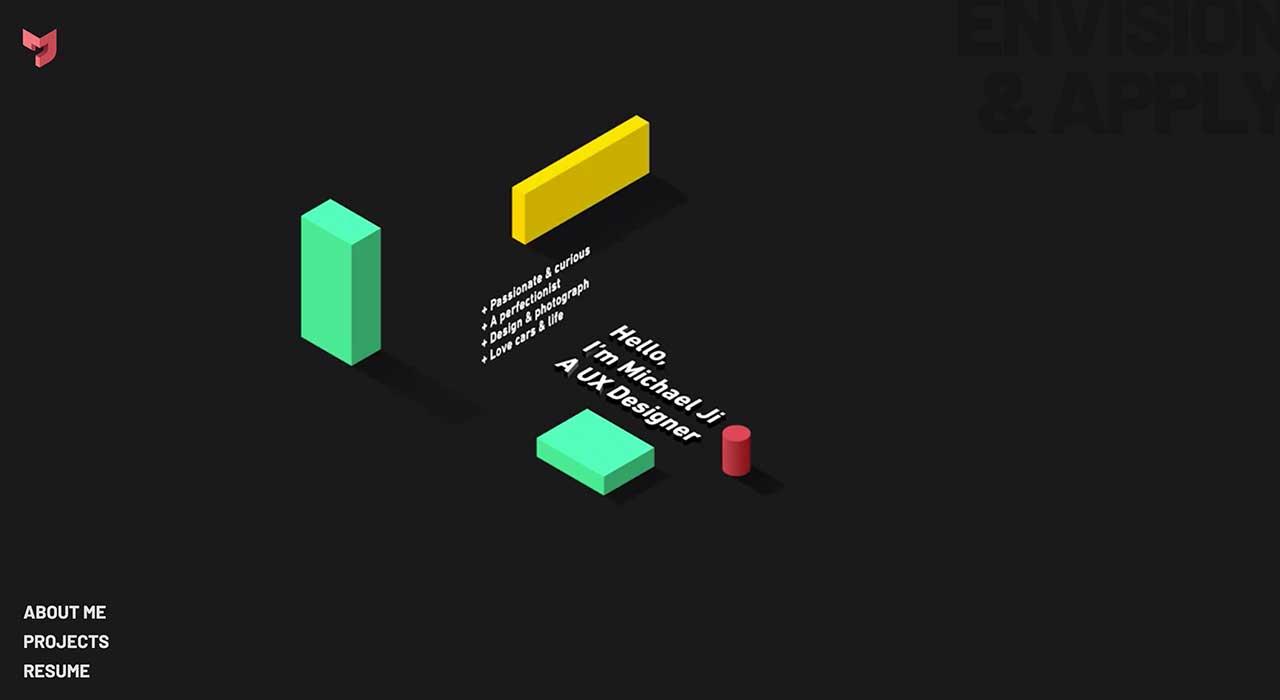 Michael Ji's portfolio site.