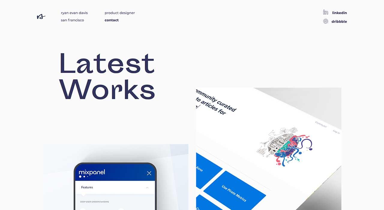 Ryan Davis' portfolio site.