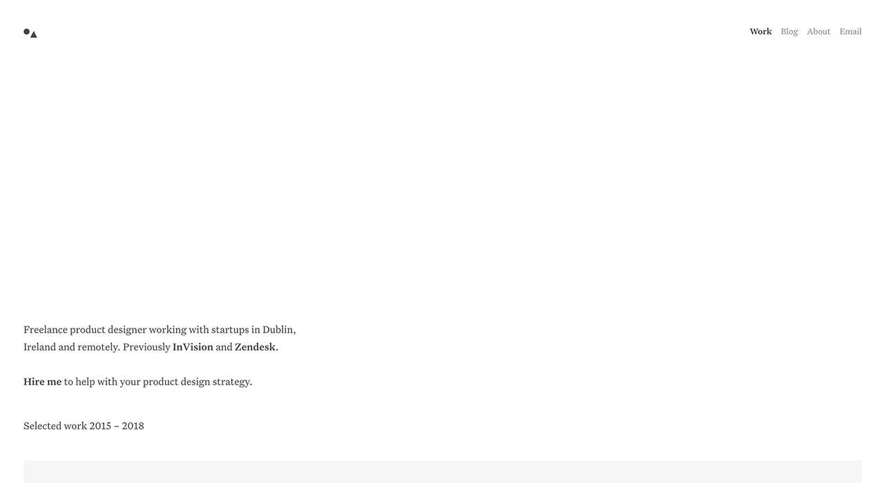Jonny Belton's portfolio site.