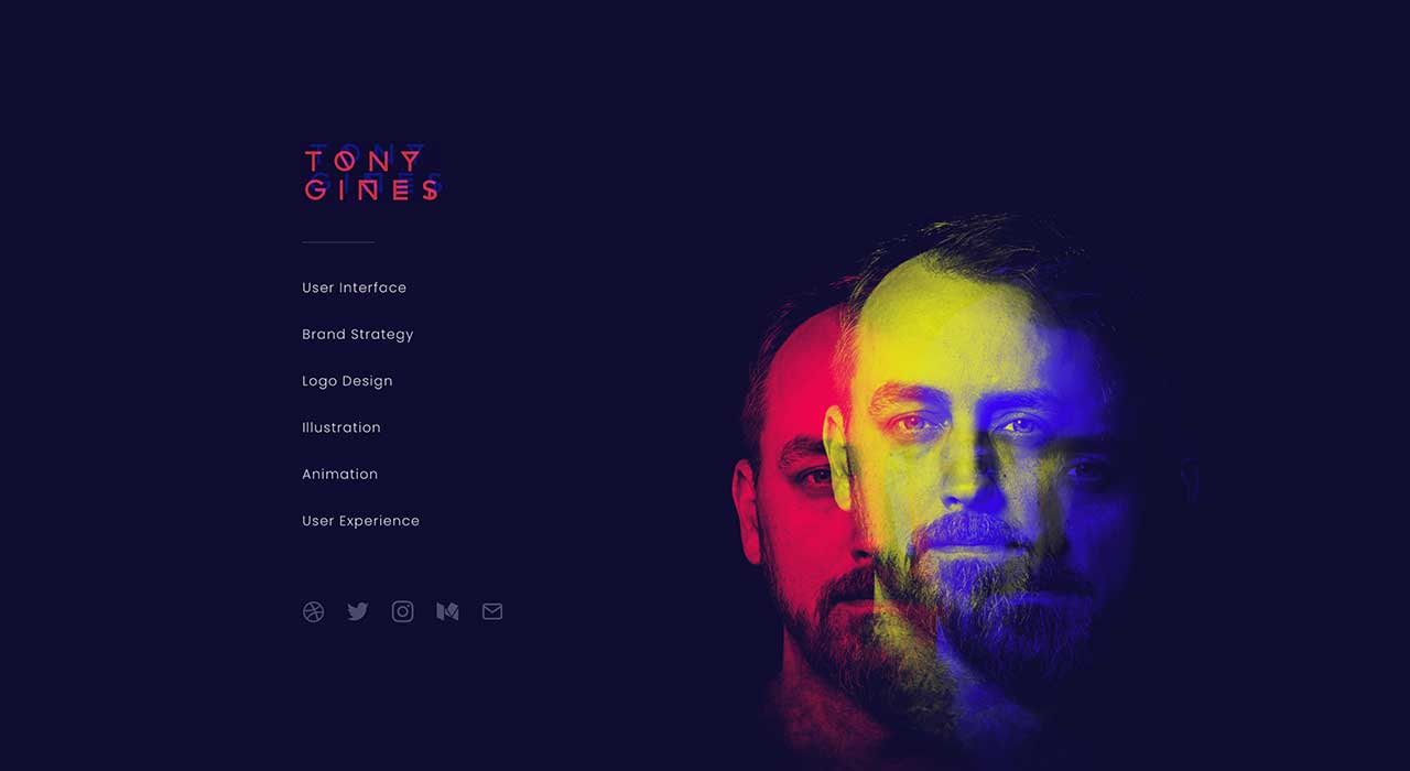 Tony Gines' portfolio site.