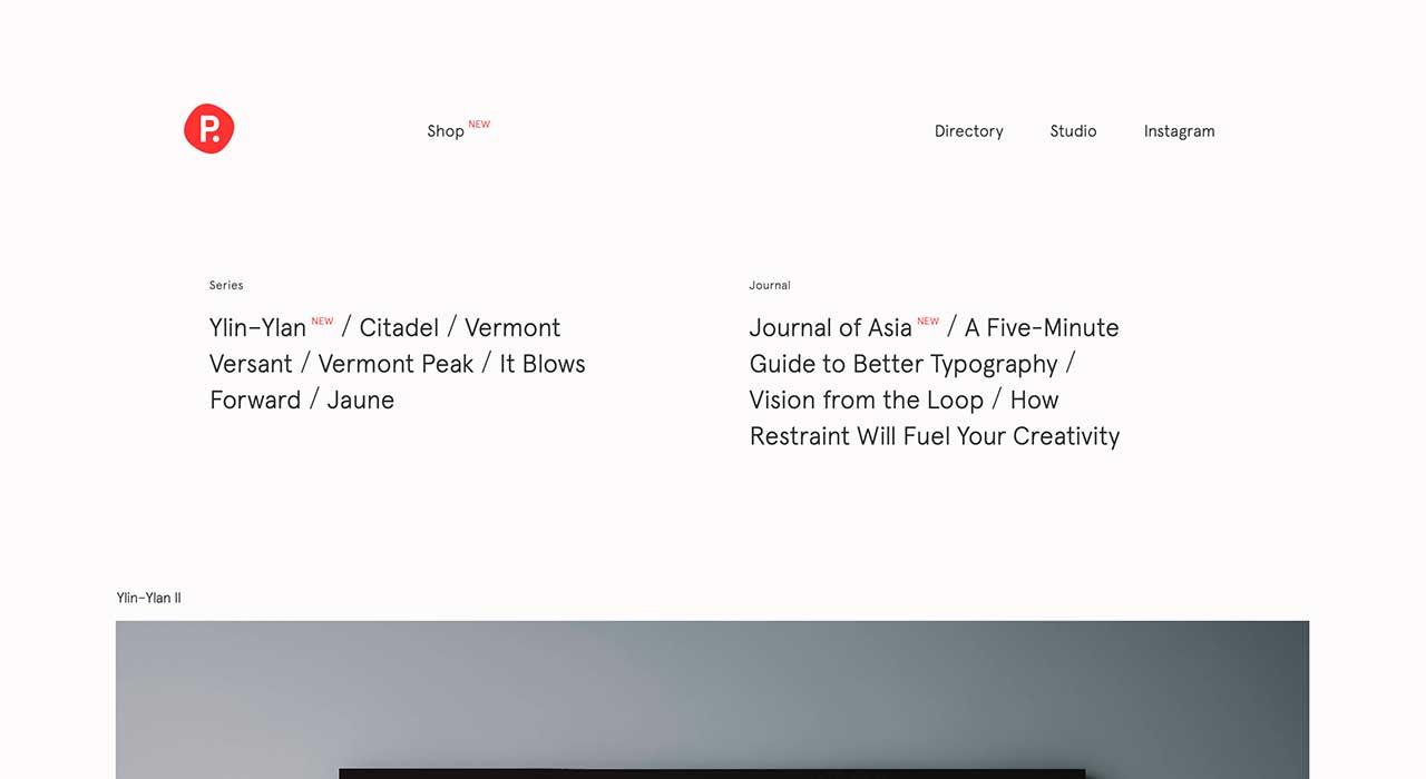 Pierrick Calvez's portfolio site.