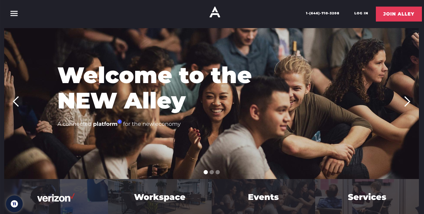 Alley homepage.