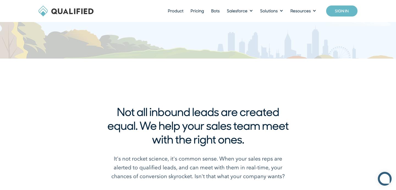 Qualified homepage.