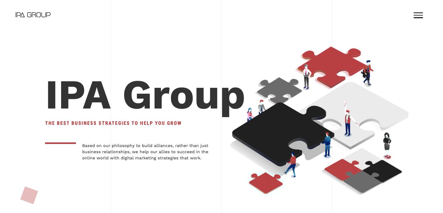 IPA Group homepage.