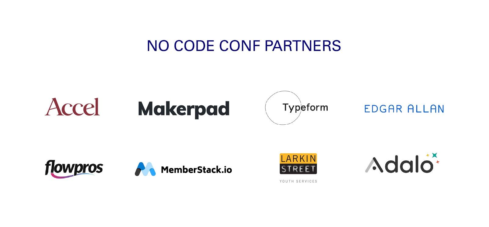 no code conf partners
