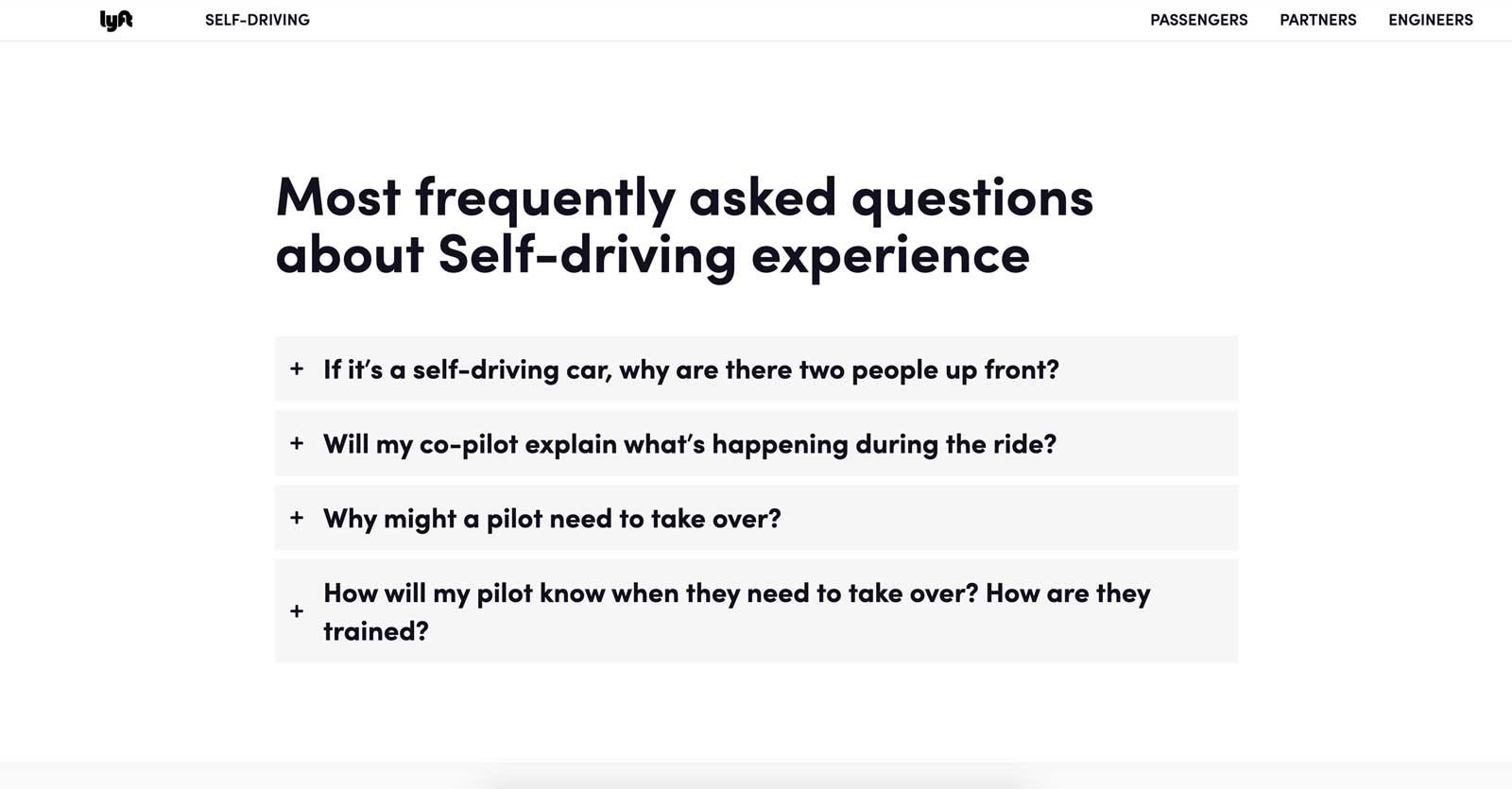 lyft self driving faq