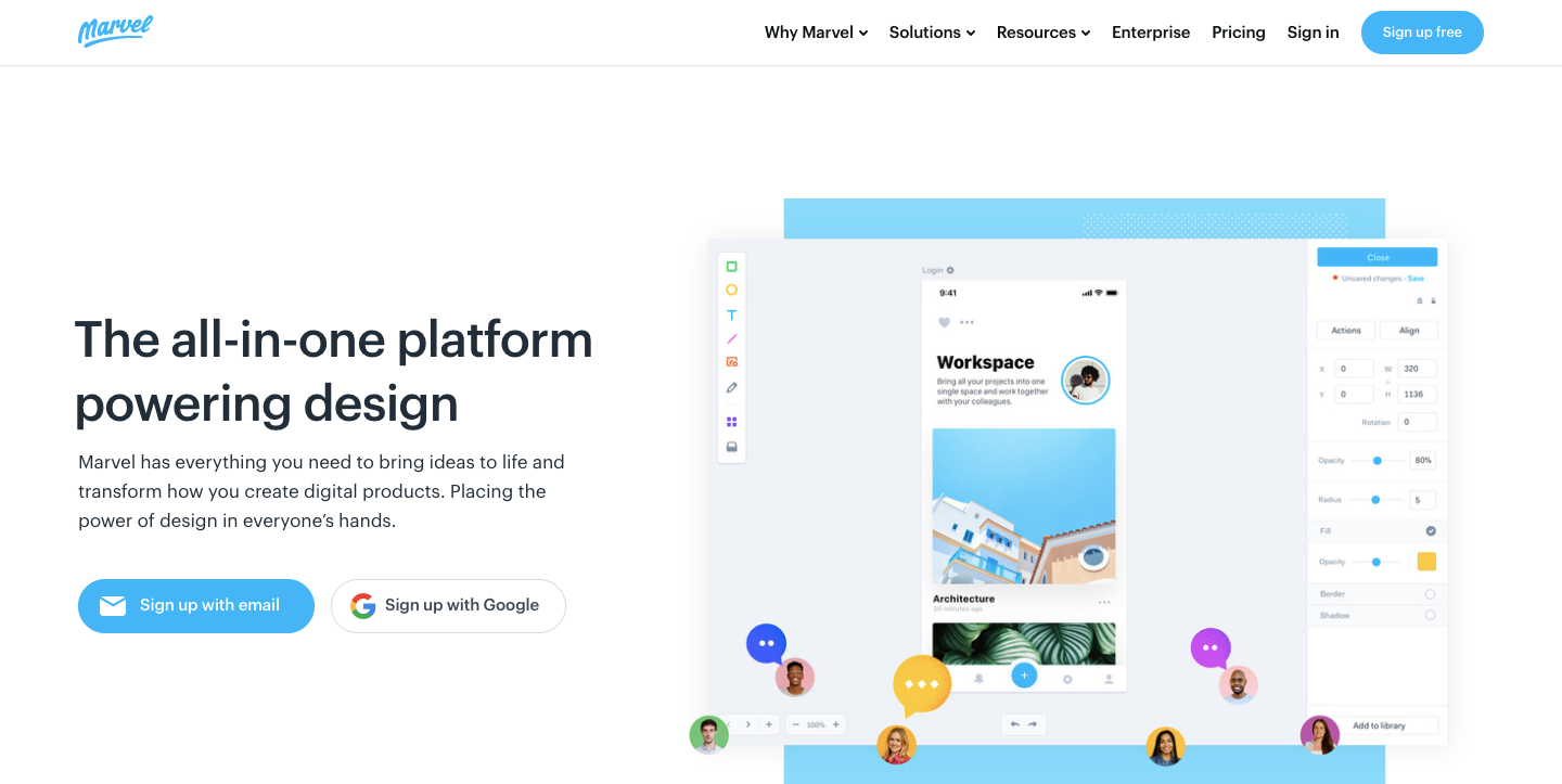 marvel design platform