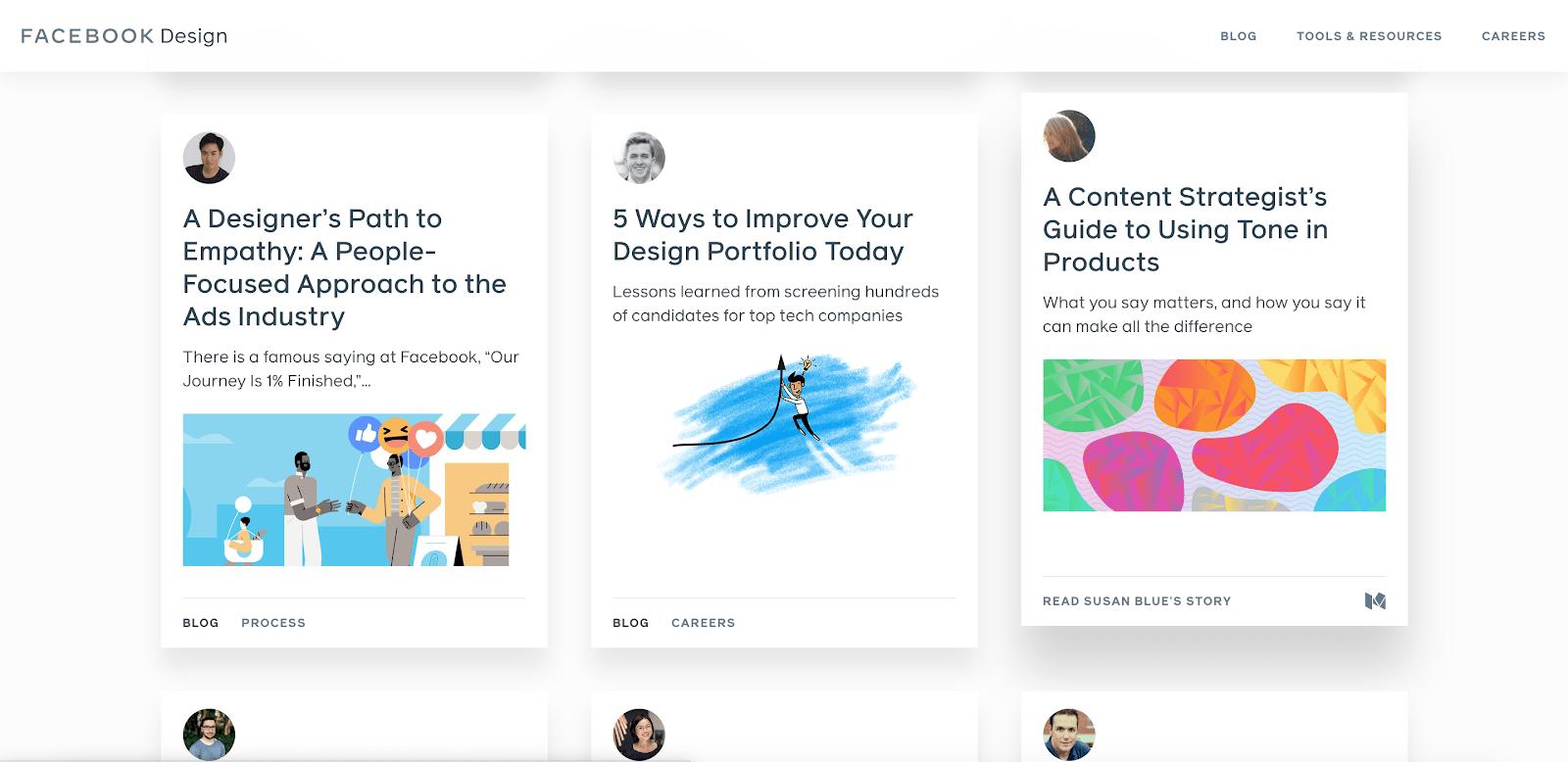 facebook design blog