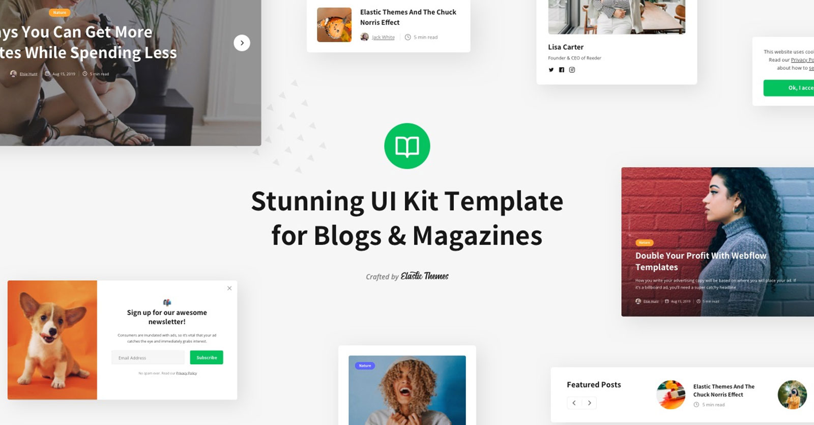 ui kit blog template