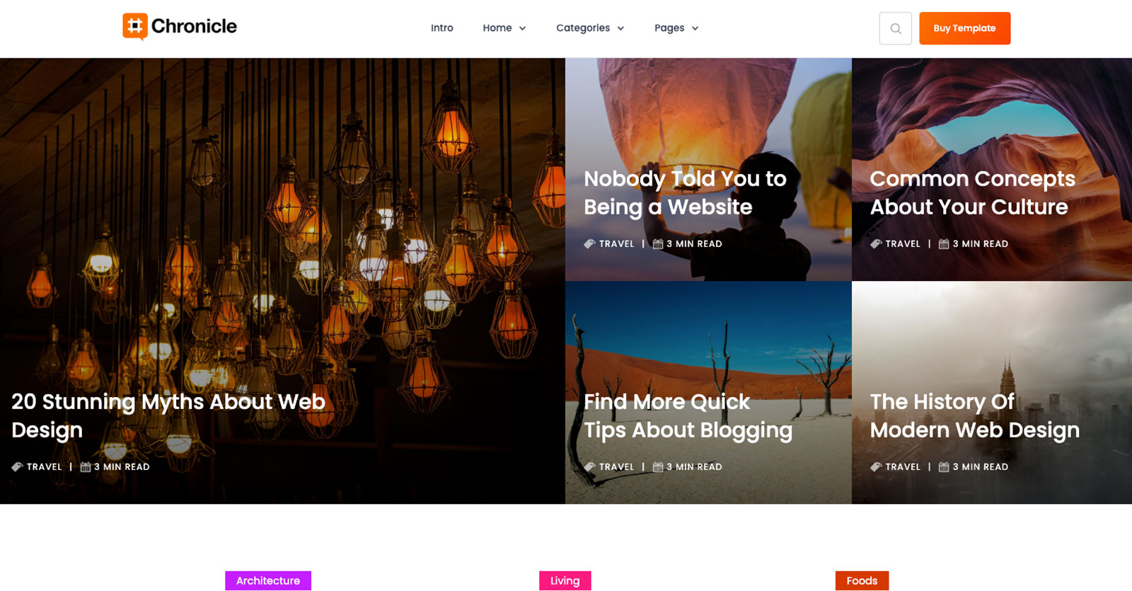 chronicle webflow template